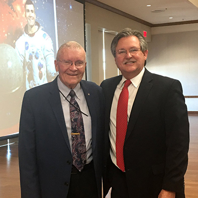 CB&T's Evan Klaras with Apollo 13 astronaut Fred Haise